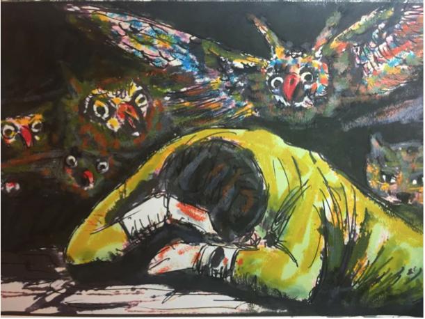 <p><span>D'après Goya</span>, .<br>37x49</p>